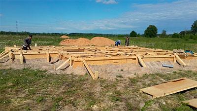 Начало строительных работ.